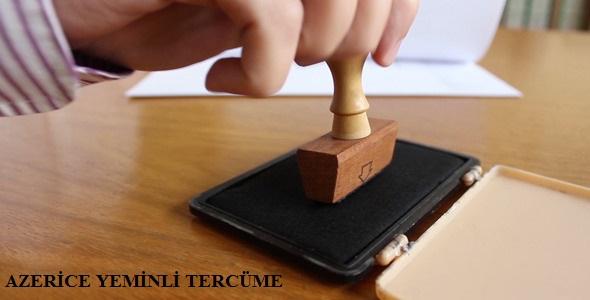 azerice yeminli tercüme