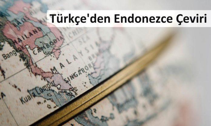 Turkceden Endonezce Ceviri