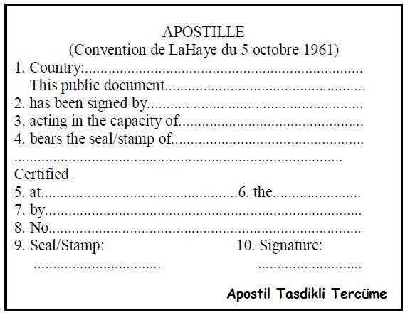 apostil tasdikli tercüme